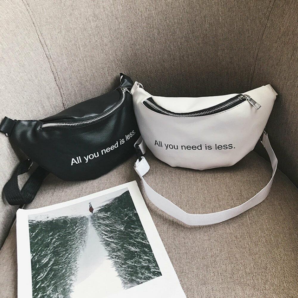 Fashion Women Waist Fanny Pack Letter Print Belt Bag Travel Hip Bum Bag Small Purse Chest Pouch NEW