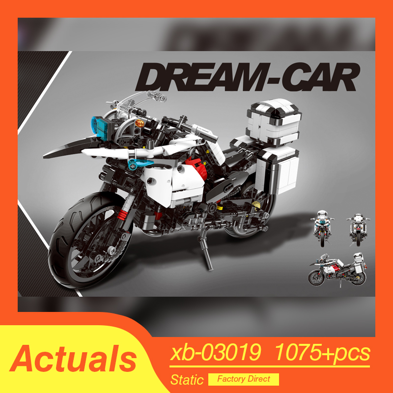 XINGBAO LepinED Technic MOC R1200 GS Heavy Moto Motorcycle Model Building Blocks Toys For Kids Bricks Classic Educational Gifts 1