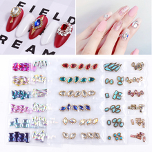 Alloy-Glass-Diamonds Jewelry Nail-Art-Decorations Pearl-Shell Crystal Natural-Stone Metal