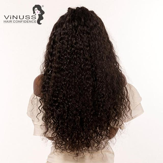 Vinuss Full Lace Human Hair Wigs water wave For Black Women Lace Front Wigs Brazilian Remy Pre Plucked Bleached Knots 1