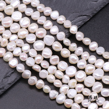 Natural Freshwater Pearl Beads High Quality 38cm Punch Loose Beads for DIY Women Elegant Necklace Bracelets For Jewelry Making baroqueonly naked pair beads purple big size high quality flat beads natural fresh water pearl for earring making bcz 2