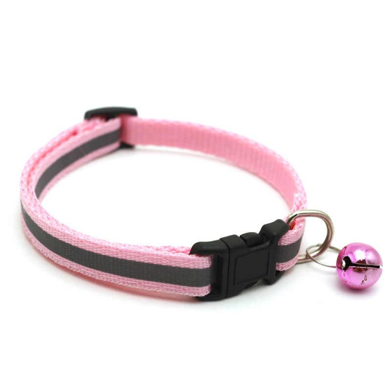 Reflektierende Charme und Glocke Katze Kragen Sicherheits Elastische Einstellbar mit Weichen Samt Material Neue Farben Pet Produkt Kleine Hund Kragen