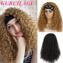 Guruilagu onda profunda peruca de cabelo sintético peruca de fibra resistente ao calor preto/#613/#4/#27 peruca loira perucas de cabelo sintético para mulher