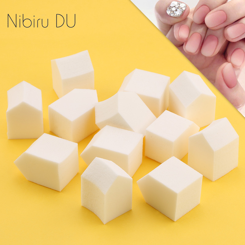 10/20pcs Soft Nail Gradient Sponge Multifaceted Fitted Nails Art Transfer Coloring Stamping DIY Polish Gel UV Tool