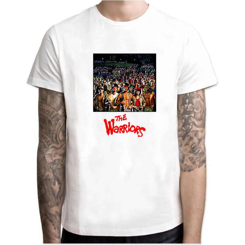 I Guerrieri Mens T Shirt Freddo Retro Film Film 80S Vintage Pantaloni A Vita Bassa di Estate Top Camiseta Manica Corta In Cotone Fresco T-shirt