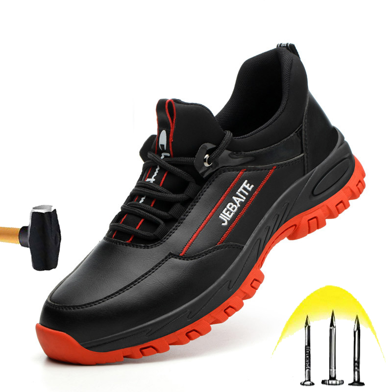 New New Deodorant Safety Shoes 2020 Men Outdoor Anti-stab Soft Sole Work Boots Lightweight Breathable Anti-smashing Steel Toe Shoes