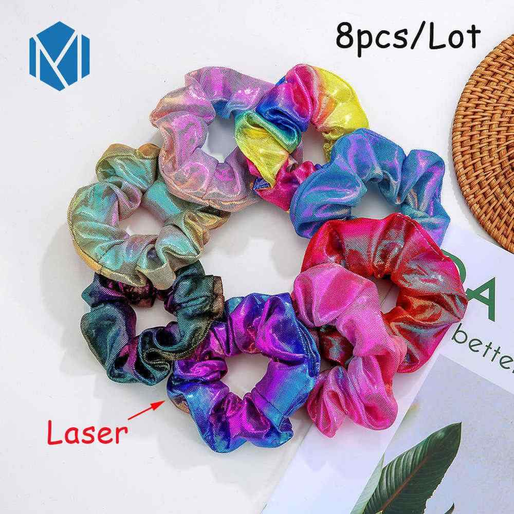 2/4/10Pcs/Lot Variety Hair Scrunchie Gum Velvet Satin Elastic Rubber Bands Leopard Floral Bow Hair Rope Tie Stretchy Hair Band