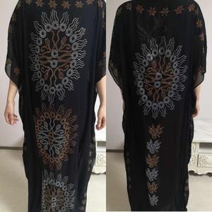 Image 5 - طول الفستان: 135 سنتيمتر الصدر: 160 فساتين الموضة الجديدة بازين طباعة Dashiki المرأة طويلة/نمت Yomadou اللون نمط المتضخم