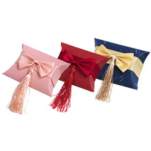 Multicolor New Pillow Shape Gift Box Corrugated Paper Gift Bags with Tassel Wedding Favor Candy Boxes Baby Shower Party Supplies multicolor new pillow shape gift box corrugated paper gift bags with tassel wedding favor candy boxes baby shower party supplies