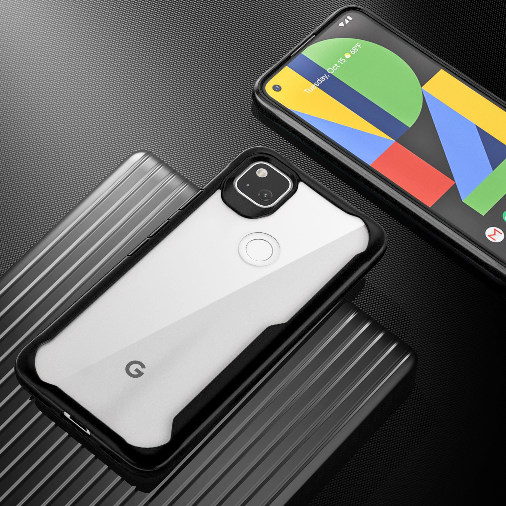 For Goolgle Pixel 5 5Xl 4A 4 4XL 3A 3XL 2 Transparent 2 In 1 Ultrathin Fall Prevention Mobile Phone Case For Pixel 5 5XL