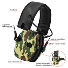 Electronic Shooting Earmuffs Hearing Protecto Sound Amplification Noise Reduction Hunting Ear Protection Tactical Headset 1436 foldable noise noise reduction ear protection earmuffs sleep study mute the headphones sound industrial plants
