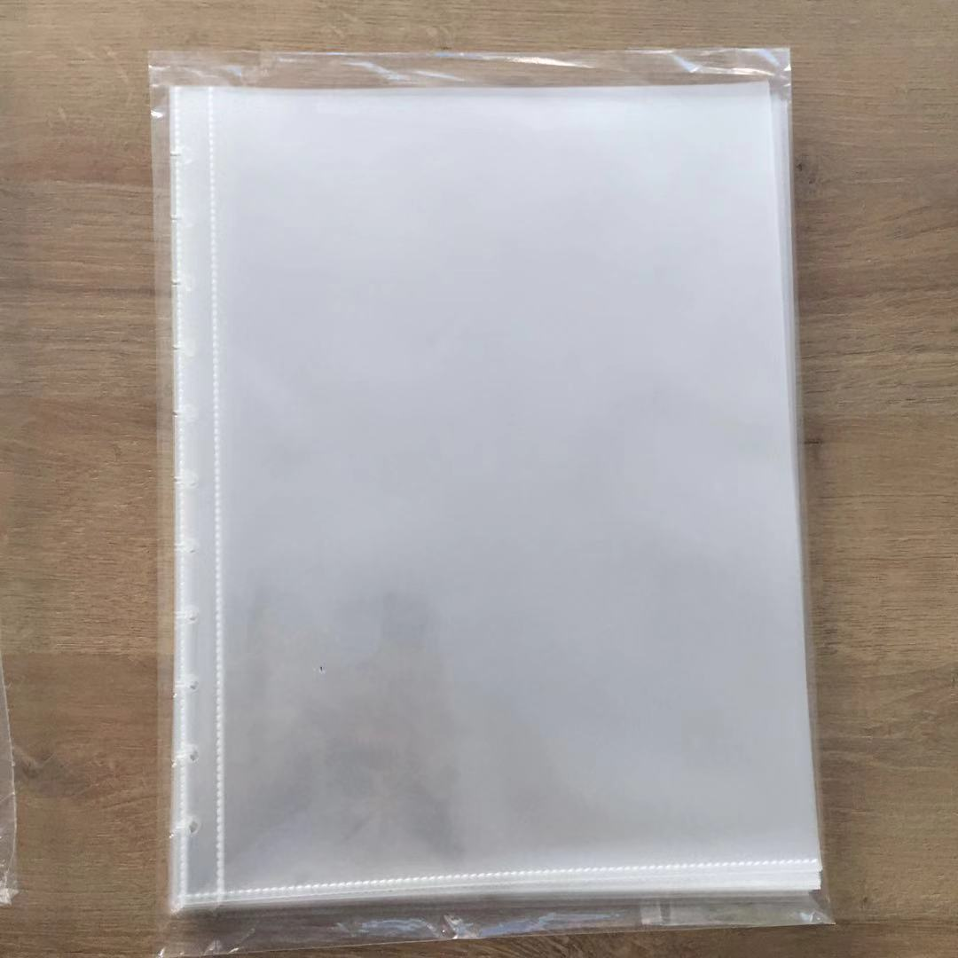 25 Sheets A4 Size Mushroom Hole Information Booklet Inner Page Thick Plastic Refill Inner Page Works Protection File Folder