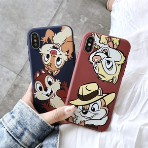Cartoon Chip Dale Phone Case For iPhone 7 XS MAX X XR 8 Cute Squirrel Soft Silicone Matte Back Cover For iPhone 11 11Pro Max(China)
