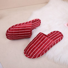 Cotton Slippers for Men and Women Winter Add Down Warm Indoor Home Slippers Non-slip Cotton Shoes for Bathroom and Bedroom(China)