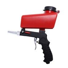 Портативный гравитационный Пескоструйный пистолет, пневматический Комплект «сделай сам», мини пескоструйное устройство 90psi, пескоструйный аппарат, регулируемая пескоструйная машина