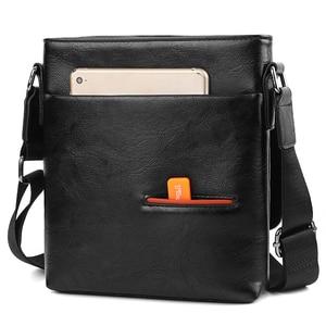 Image 4 - VICUNA POLO Vintage buzlu deri askılı çanta adam marka iş adamı çantası erkek omuz çantaları ön cep erkek çanta