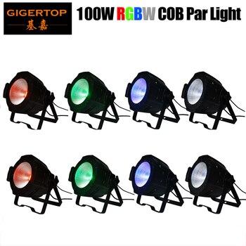Livraison gratuite 50W/100W/150W/200W COB scène professionnelle Led Par lumière/aluminium Led COB Par canettes blanc/jaune/RGB/RGBW Barndoor