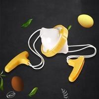 Twórczy Whirlwind Gold Egg Maker żółtko mikser Pull Egg wywrotka DIY narzędzia kuchenne zabawa przepisy na jajka i pomysł na prezent w Spieniacze do mleka od AGD na