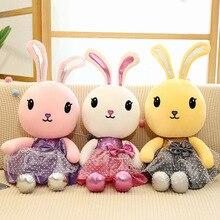 все цены на New Style Cute Rabbit Doll Plush Toy Stuffed Animal Princess Rabbit Plush Doll Children Toy Girls Birthday Gift онлайн