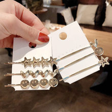 Hair Accessories Metal Snap Clips Hairpins Hairclips Smiley Face Hairgrips Barrettes Hairdressing