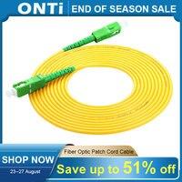 ONTi-Cable de parche de Fibra óptica SC/APC, SC-SC de 1/3/5/10/20/30M, modo simple, 2,0mm, Fibra óptica FTTH