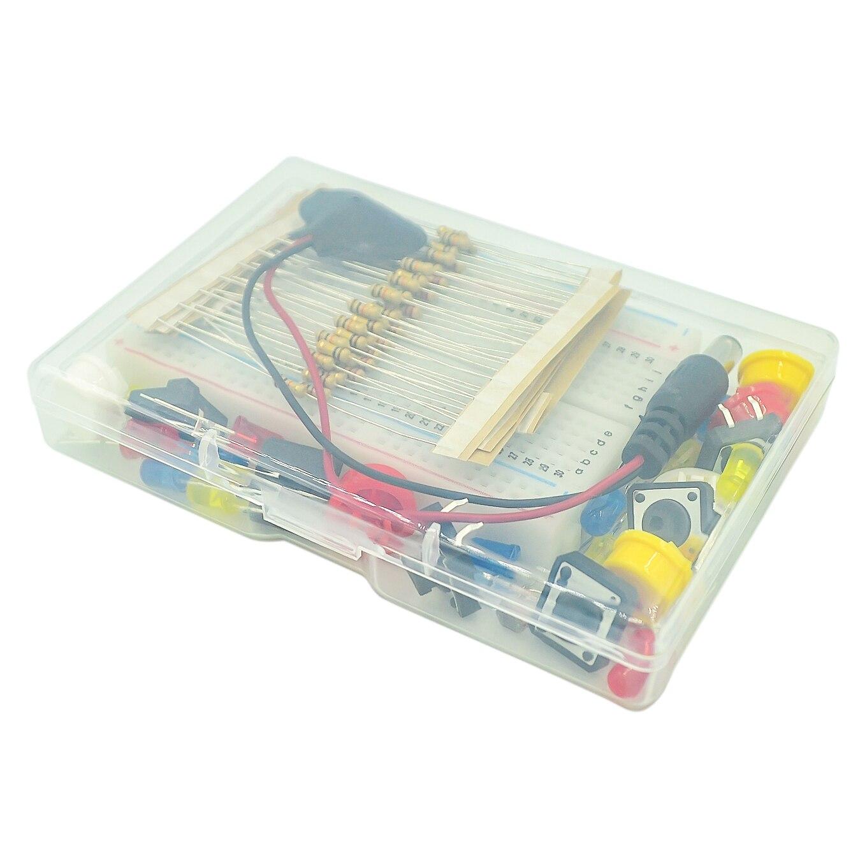 Starter kit uno r3 mini tábua de pão led jumper fio botão para arduino kit diy escola educação laboratório