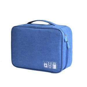 Image 4 - HJKL bolsa Digital para accesorios de viaje, Cargador USB, bolsa de almacenamiento para auriculares, organizador electrónico grande a prueba de golpes