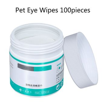 100 sztuk Pet Eye chusteczki nawilżane Dog Cat Grooming usuwanie plam czyszczenie mokrych ręczników tanie i dobre opinie CN (pochodzenie) Dog Cat Cotton Non-toxic Four Seasons