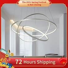 Led teto pingente lâmpadas modernas para casa sala de estar jantar cozinha branco preto anel redondo quarto lustre iluminação interior