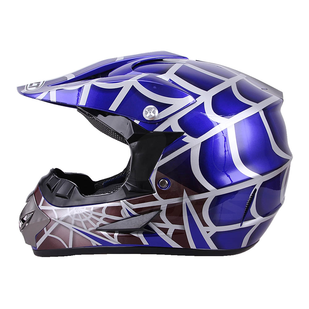 OUMURS DOT Cool Web Style Motorcycle Children Helmet 3