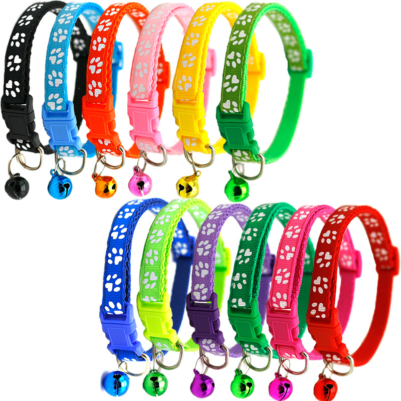 Pet Collar Bell Pet Supplies Accessories Puppy Name Cat Dog Adjustable Chihuahua Puppy Easy To Wear Cat Small Adjustable image