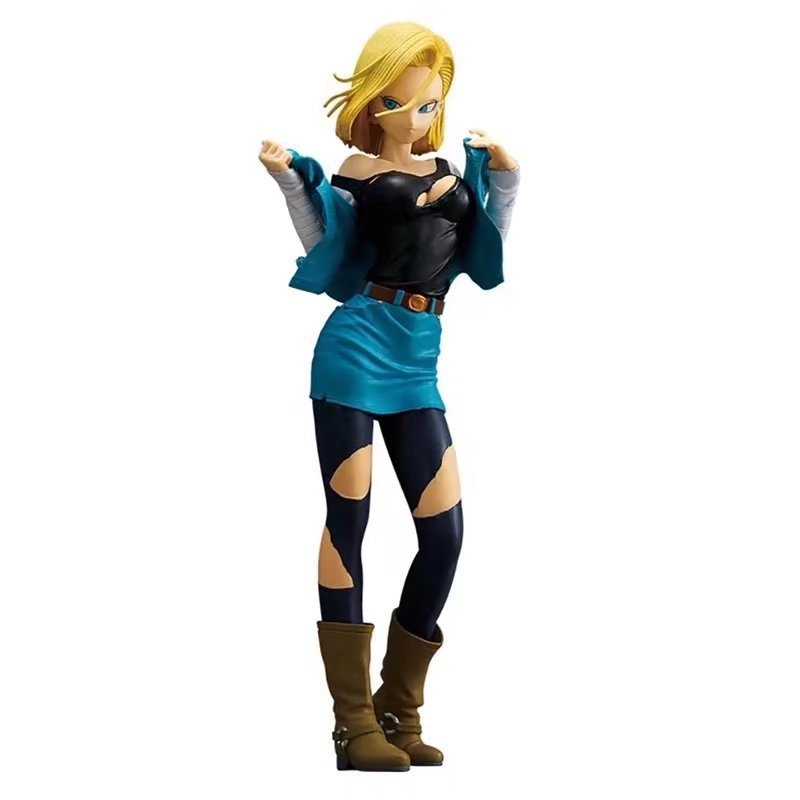 25cm Android 18 Battle Damaged <font><b>Action</b></font> <font><b>Figure</b></font> <font><b>Dragon</b></font> <font><b>Ball</b></font> Z Pvc Girl <font><b>Sexy</b></font> <font><b>Figure</b></font> Colection Toys Anime Models image
