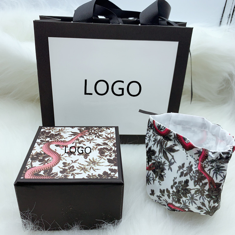 SHINETUNG Trendy High-End Jewelry Box Gift Box,WesternStyle Fine Original 1:1 With Logo,Women Birthday Valentine'sDay Gift