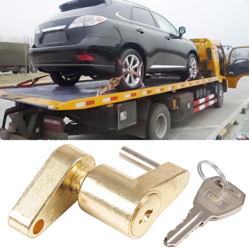 55% Hot Sales!!! Zinc Alloy 1/4inch Universal Trailer Tow Hitch Bar Coupler Lock with 2 Keys