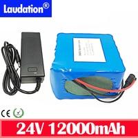 24V Batterij 18650 Pack 24V 12Ah Fiets Batterij 25.2V 12Ah Lithium-Ion Oplaadbare Batterij 350W E Fiets 250W Met 2A Charger