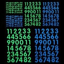 Светится в темноте номер стикер светящийся стикер с цифрами дети спальня настенный выключатель Номер модели DIY Украшение этикетка наклейка