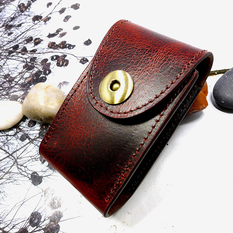 Blongk Two In One Genuine Leather Car Key Holder+House Key Case Hanging On Belt Bag Waist Pack Men And Women 1652C-XL