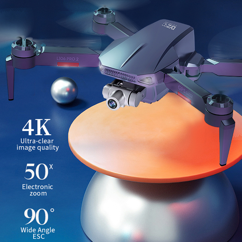 XYRC L106 Pro2 GPS Drone 4K HD Dual Camera 2-axis Gimbal Aerial Photography Brushless Foldable Quadcopter RC Distance 1200M 2