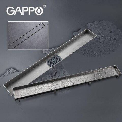 Dreno do Chuveiro de Aço Linear para o Hotel Gappo Inoxidável Dreno Chão Longo Drenagem Banheiro Cozinha Piso 304