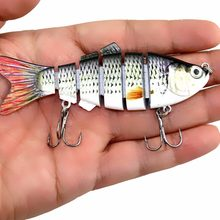 New Multi Sections 6 Segments Fishing Lure Treble Hook 6 Jointed Swimbait Crankbait Isca Artificial Hard Bait Wobblers 10cm 18g(China)