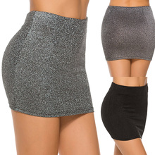 High Waist Sexy Pencil Skirt Fashion 2019 Sequin Skirt Mini Tight Skirt Ladies Office Ladies Slim Stretch