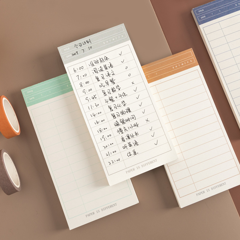 Simple Basic Function Loose Leaf Memo Pad Traveller Planner To Do List Notes School Supply Stationery Gift