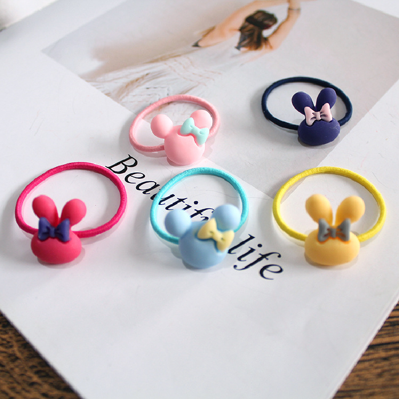 10 PCS Lovely Flower Princess Headwear Baby Headdress Girls Hair Accessories Kids Elastic Hair Bands Children Hair Ropes 2