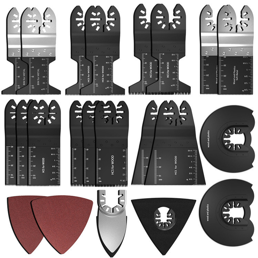 40 шт./компл. Металл жесткой мощности быстрая установка пильные диски Осциллирующий аксессуар ремонтный инструмент для мастера пластиковая ...