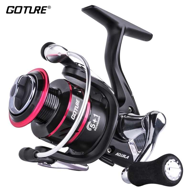 Goture Aquila Centron Low Profile Zoetwater Spinning Reel Max Drag 8Kg Karpervissen Reel Voor Bass Fishing 500-5000 Serie