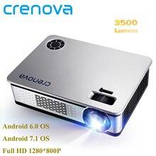 CRENOVA 4500 lumenów rzutnik dla Full HD 1920*1080 projektor z androidem z WIFI Bluetooth Android 6.0 7.1 OS LED Beamer