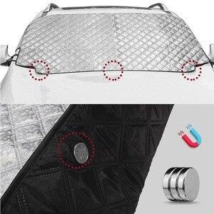 Image 5 - 車積雪磁気フロントガラスカバー厚いサンシェード保護カバー太陽ブロッカー全天候冬夏 SUV ユニバーサル