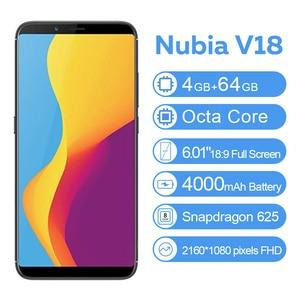 "Image 3 - Global Version ZTE Nubia V18 4GB 64GB 6.01"" Smartphone Snapdragon 625 2160*1080 Octa Core 18:9  4000mAh 13MP Mobile Phone"