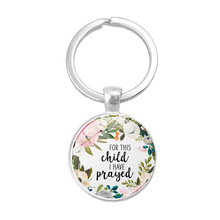 LISTE&LUKE new fashion bible verse key chains handmade glass ring scripture quote faith jewelry women men christian gifts