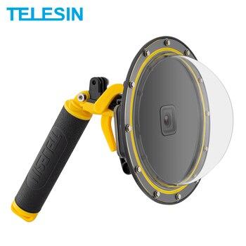TELESIN Dome Port Diving Waterproof Case Housing Funda for Gopro hero 9 black For Hero 8 7 6 5 black Floating Mount Camera Parts 1